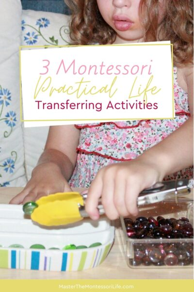 It will help you understand how to set up dozens of Montessori Practical Life transferring activities and will set up the children for success.