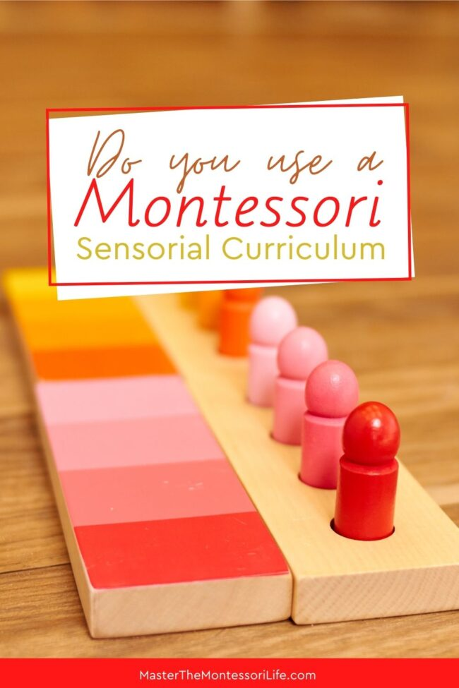 This post will give you an introduction to the Montessori curriculum approach to sensory education, as well as provide you with a PDF of a printable template you can use in your environments.