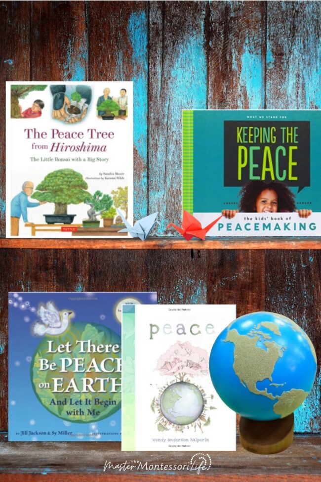 We begin by discussing the concept or idea of peace, and then we provide concrete examples that children can easily relate to in their own lives.