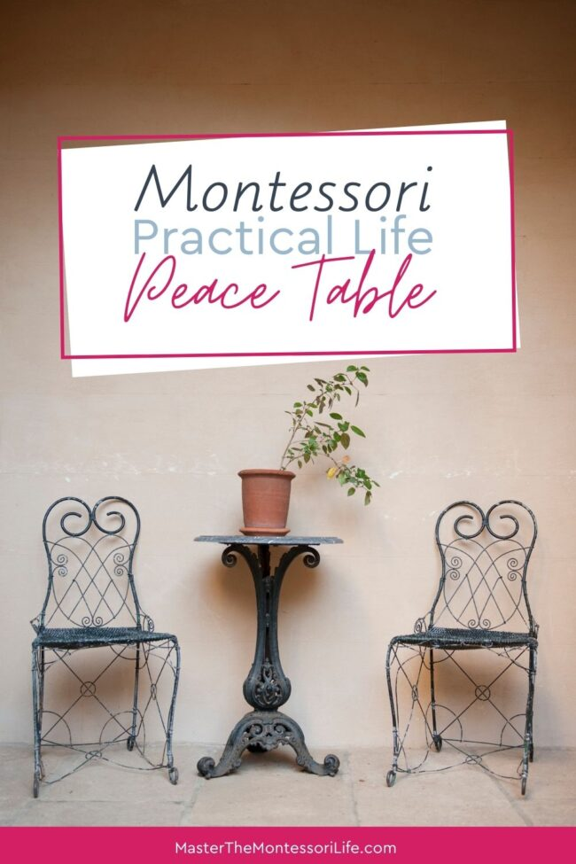 What is a Montessori Peace Table? What is its purpose? What do you do with it and why is it such a big deal in The Montessori environment? Come and find out here!