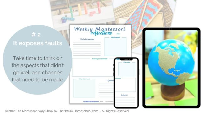 Let's talk about how you can get your Printable Weekly Reflections in the Montessori Curriculum and why you should use it.