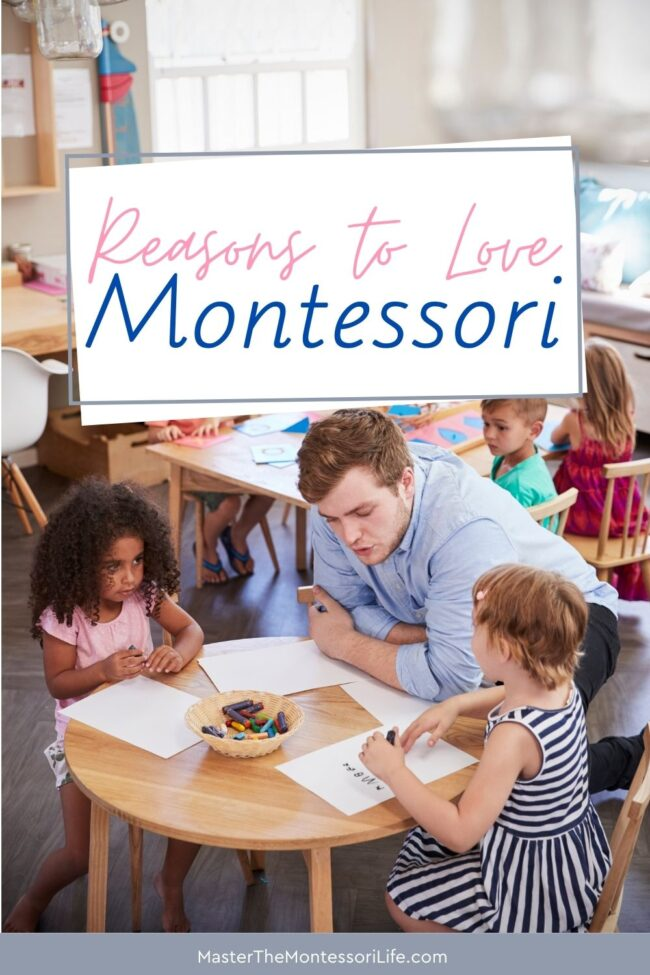In this post, we will discuss why we enjoy teaching Montessori at home, as well as provide you with a list of wonderful Montessori resources to get you started.