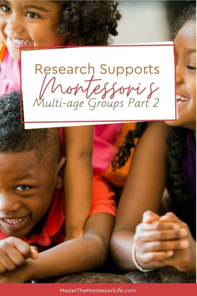 It's about the Montessori way of multi-aged grouping and some of the benefits of it.