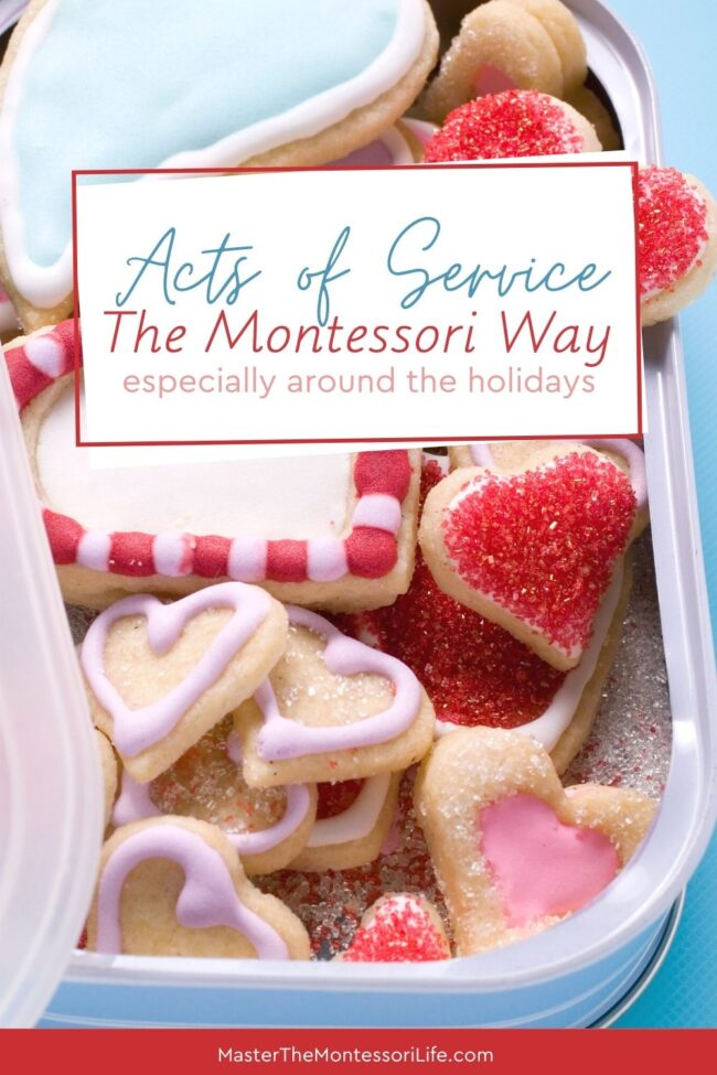 Are you trying to think of Montessori friendly ideas that will get your children into the giving spirit? In this episode, we will be looking at some great acts of service ideas that you can implement anytime, but especially around the holidays.