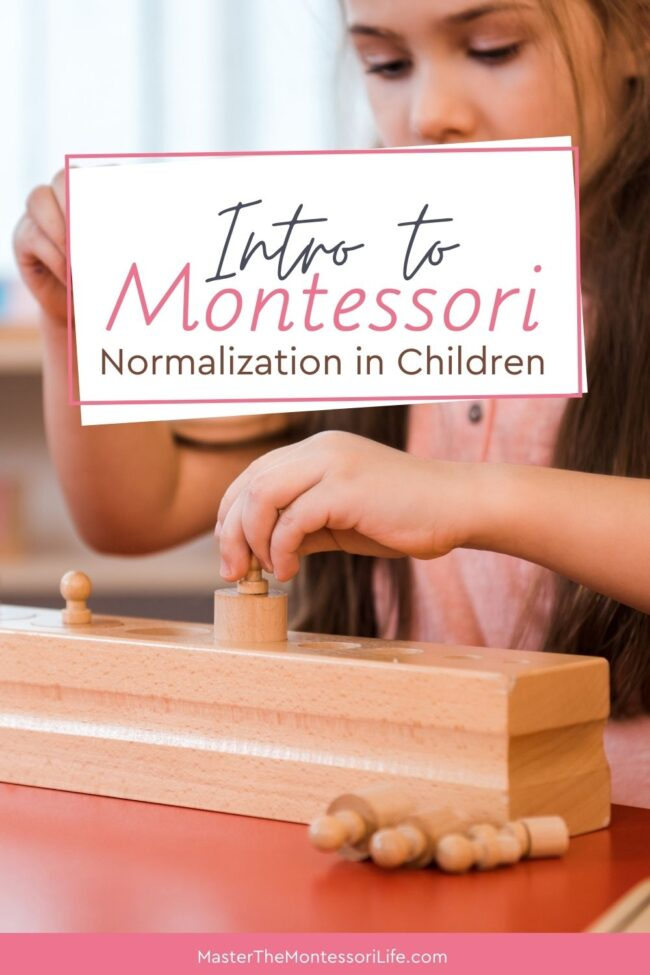 Let's discuss what Montessori normalization is, why it is important, what are some typical behaviors of normalized children and what are some things that you can do to help shortcut normalization in the children you work with.