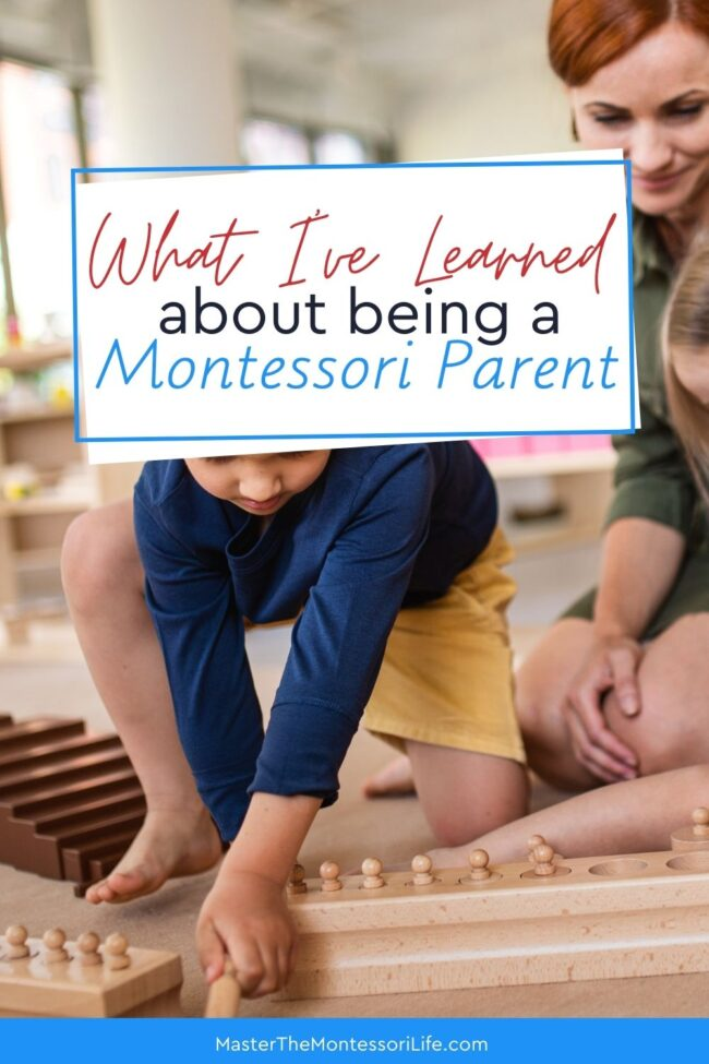 In this training, I am going to share with you 3 important things that I have learned about being a Montessori parent.