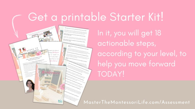 Are you wondering where you are in your Montessori journey and how to know where you go from here? This guidance will not only be eye-opening for you, but it will give you a sense of direction. Don't miss it!